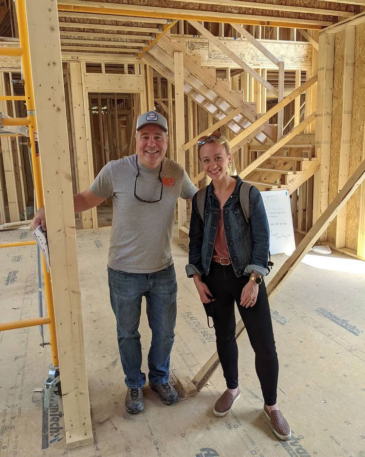 Jeff and Jennifer on a job site
